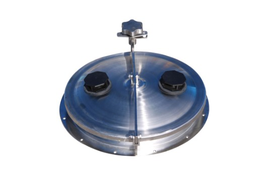 450mm stainless steel hinged lid