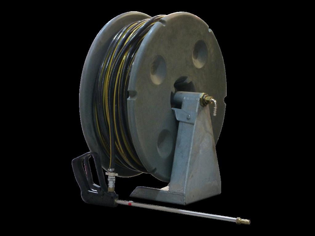 100m Base Mount Hose Reel  10mm w Gun
