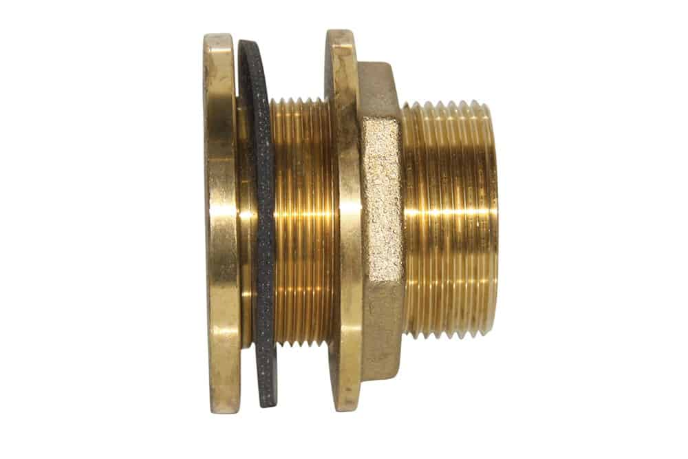 2 brass tank fitting
