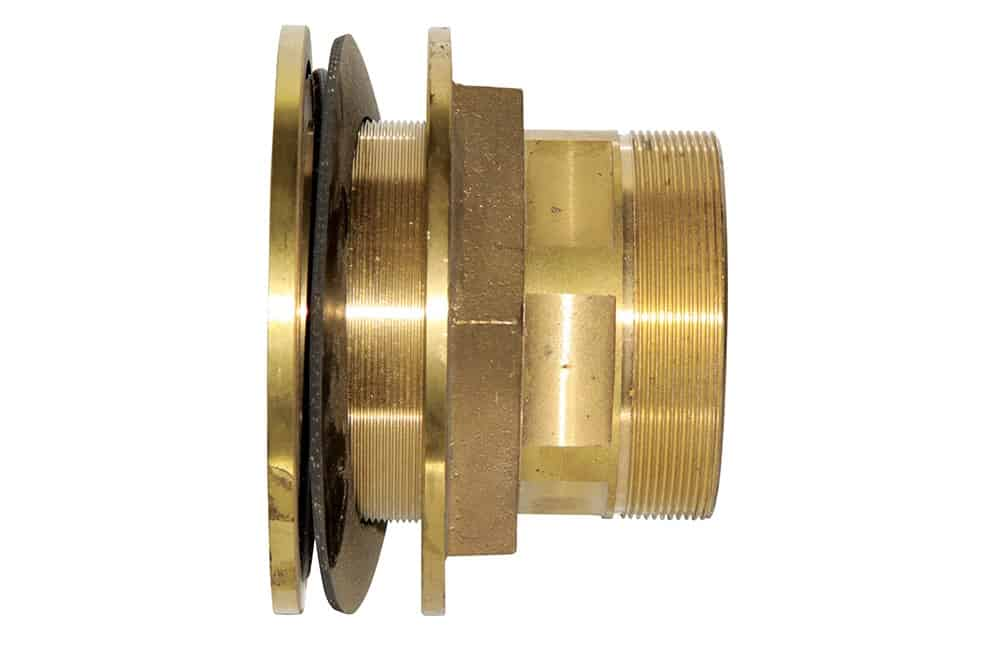 4 brass tank fitting