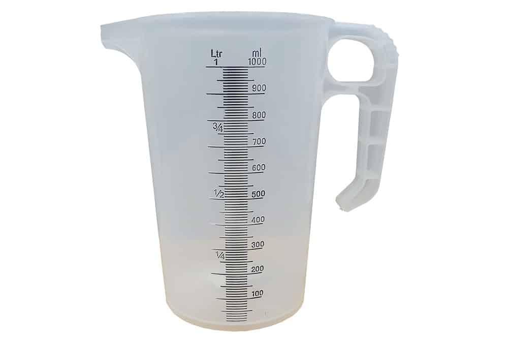 1 litre polypropylene measuring jug