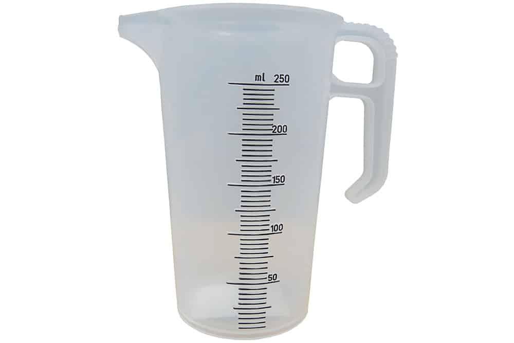 250ml polypropylene measuring jug